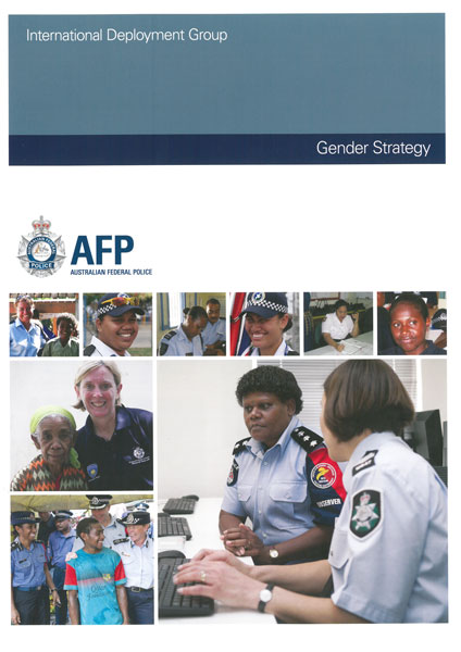 Members of the Coalition attend the launch of Australian Federal Police's Gender Strategy